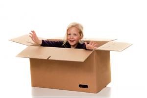 Mädchen-in-Box